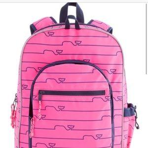 Vineyard Vines Girls Whale Tail Backpack EUC